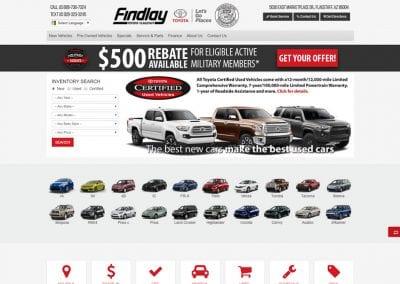 Findlay Toyota Flagstaff / Website Design / SEO / PPC Management / Conversion Optimization / Social Media / Email Marketing
