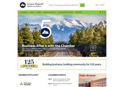 Greater Flagstaff Chamber of Commerce / Website Design / SEO / PPC / Social Media / Graphic Design / Publication Design / Conversion Optimization / Ecommerce / Event Registration / membership